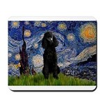 Starry / Std Poodle(bl) Mousepad