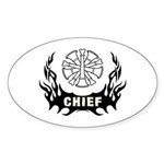 Fire Chief Tattoo Sticker (Oval)