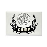 Fire Chief Tattoo Rectangle Magnet