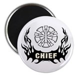 "Fire Chief Tattoo 2.25"" Magnet (10 pack)"