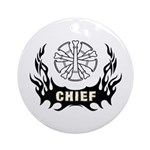 Fire Chief Tattoo Ornament (Round)