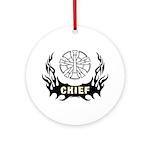 Fire Chief Tattoo Ornament (Round)