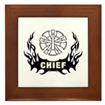 Fire Chief Tattoo Framed Tile