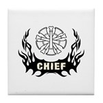Fire Chief Tattoo Tile Coaster