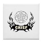 Fire Chief Tattoo Tile Coaster