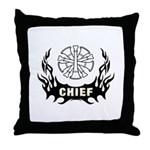 Fire Chief Tattoo Throw Pillow