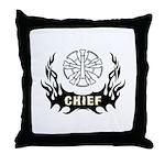 Fire Chief Tattoo Throw Pillow