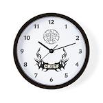 Fire Chief Tattoo Wall Clock