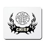 Fire Chief Tattoo Mousepad