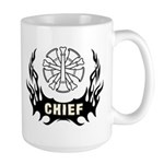 Fire Chief Tattoo Large Mug