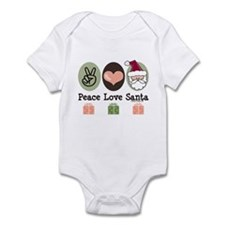 Peace Love Santa Christmas Infant Bodysuit