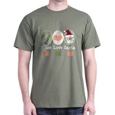 Peace Love Santa Christmas T-Shirt