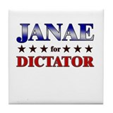 JANAE for dictator Tile Coaster