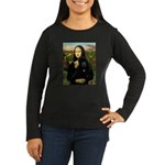 Mona / Std Poodle (bl) Women's Long Sleeve Dark T-