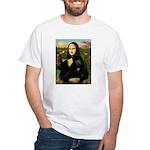 Mona / Std Poodle (bl) White T-Shirt