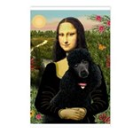 Mona / Std Poodle (bl) Postcards (Package of 8)