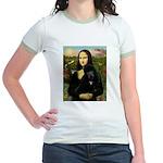 Mona / Std Poodle (bl) Jr. Ringer T-Shirt