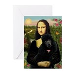 Mona / Std Poodle (bl) Greeting Cards (Pk of 10)