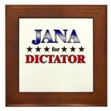 JANA for dictator Framed Tile
