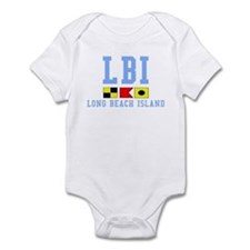 Long Beach Island - Light Blue Infant Bodysuit