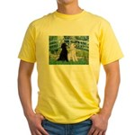 Bridge / Std Poodle (pr) Yellow T-Shirt