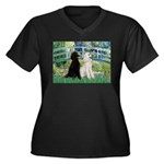 Bridge / Std Poodle (pr) Women's Plus Size V-Neck