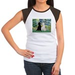 Bridge / Std Poodle (pr) Women's Cap Sleeve T-Shir