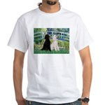 Bridge / Std Poodle (pr) White T-Shirt