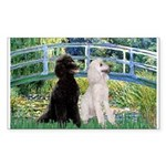Bridge / Std Poodle (pr) Sticker (Rectangle)