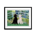 Bridge / Std Poodle (pr) Framed Panel Print