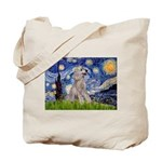Starry / Std Poodle (s) Tote Bag