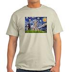 Starry / Std Poodle (s) Light T-Shirt