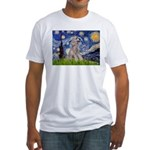Starry / Std Poodle (s) Fitted T-Shirt