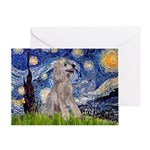 Starry / Std Poodle (s) Greeting Card