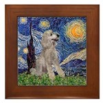 Starry / Std Poodle (s) Framed Tile