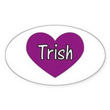 Trish Oval Decal