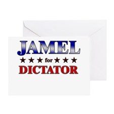 JAMEL for dictator Greeting Card