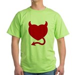 Devil Heart Green T-Shirt