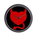 Devil Heart Wall Clock