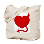 Devil Heart Tote Bag
