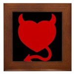 Devil Heart Framed Tile