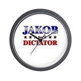 JAKOB for dictator Wall Clock