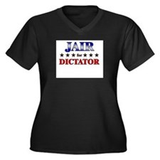 JAIR for dictator Women's Plus Size V-Neck Dark T-
