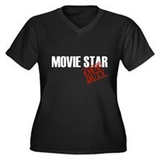 Off Duty Movie Star Women's Plus Size V-Neck Dark