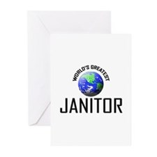 World's Greatest JANITOR Greeting Cards (Pk of 10)