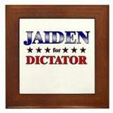 JAIDEN for dictator Framed Tile