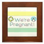 We're Pregnant! Framed Tile