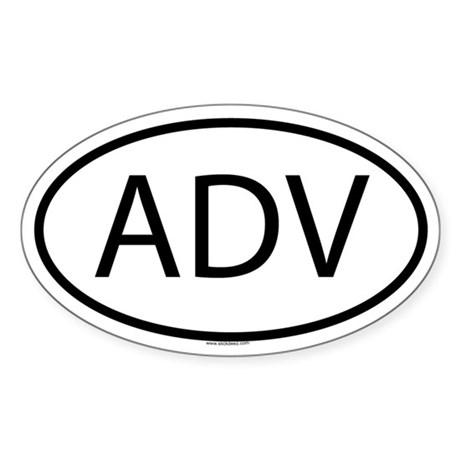 ADV Oval Sticker