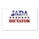 JADA for dictator Rectangle Bumper Stickers