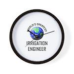 World's Greatest IRRIGATION ENGINEER Wall Clock